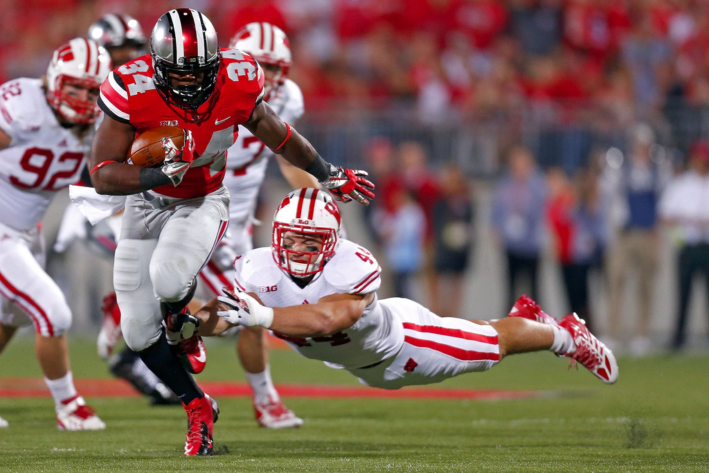 Carlos Hyde rushed for 85 yards on this day in 2013.