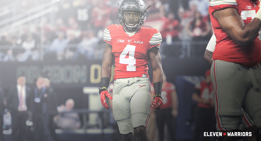A mockup of the uniforms Ohio State will wear against Michigan Saturday. fde871d85