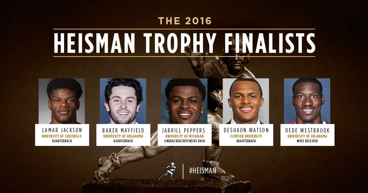 Five Finalists Named For Heisman Trophy | Eleven Warriors