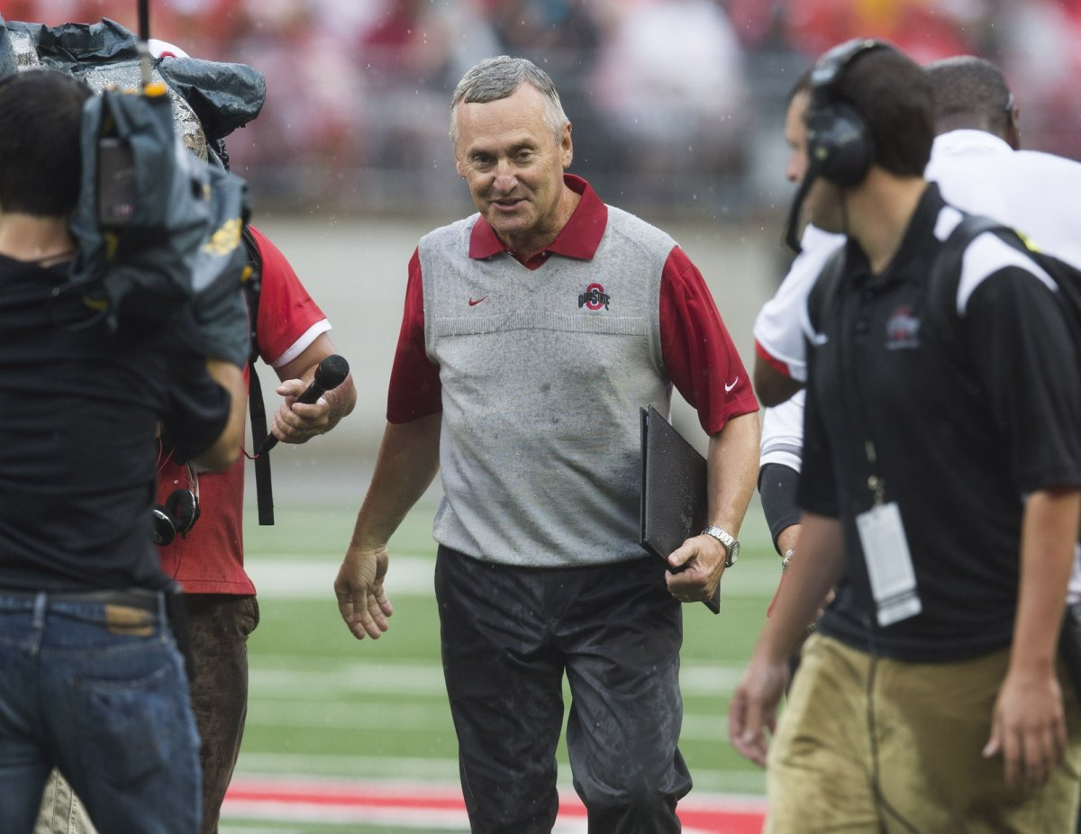 jim tressel being honored for entry into OSU's athletics hall of fame