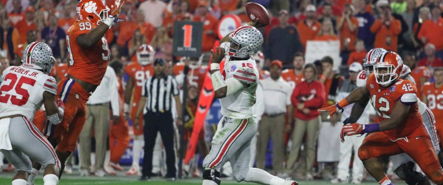 J.T. Barrett and company had the 82nd ranked pass offense in 2016 - the 2nd best mark during the Meyer era.