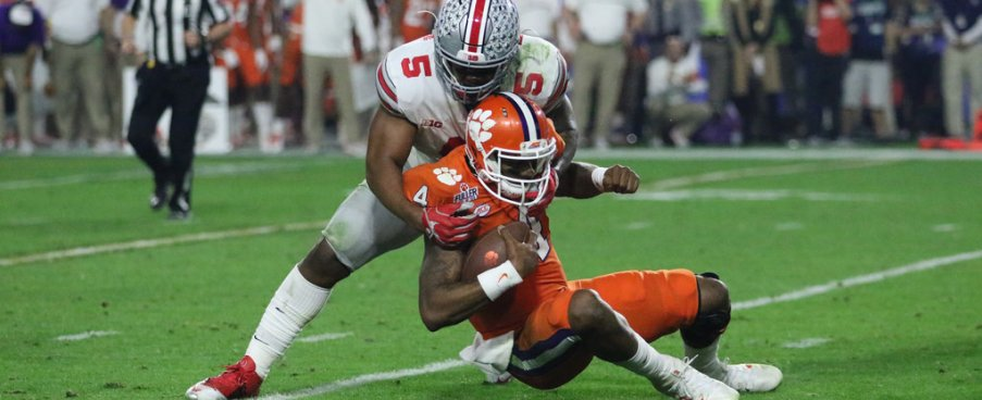Raekwon McMillan never quit tallying 15 tackles including 12 solos against Clemson.