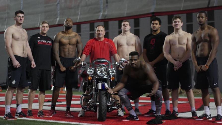 Harley Davidson St Jerome >> Video: Ohio State Endures the Grueling 'Harley Davidson Workout' | Eleven Warriors
