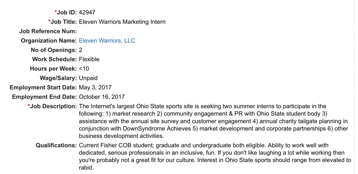 Announcing The  W Summer Marketing Internships  Eleven Warriors