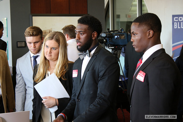 Tate Martell, Parris Campbell, Terry McLaurin at OSU Job Fair