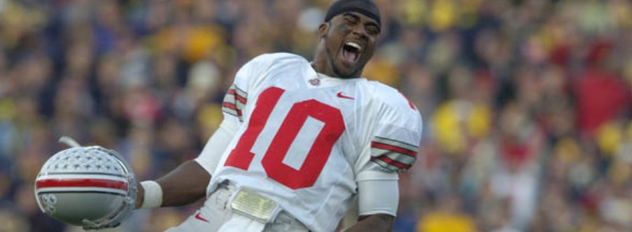 In 2005, Troy Smith went off for 337 total yards and two touchdowns in OSU's 25-21 win in the Big House
