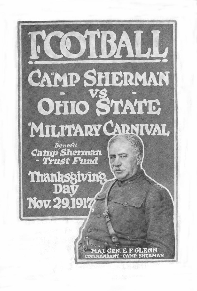 1917 football program between Camp Sherman and Ohio State