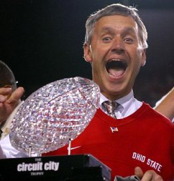 Jim Tressel celebrates bringing me the first national title of my lifetime.