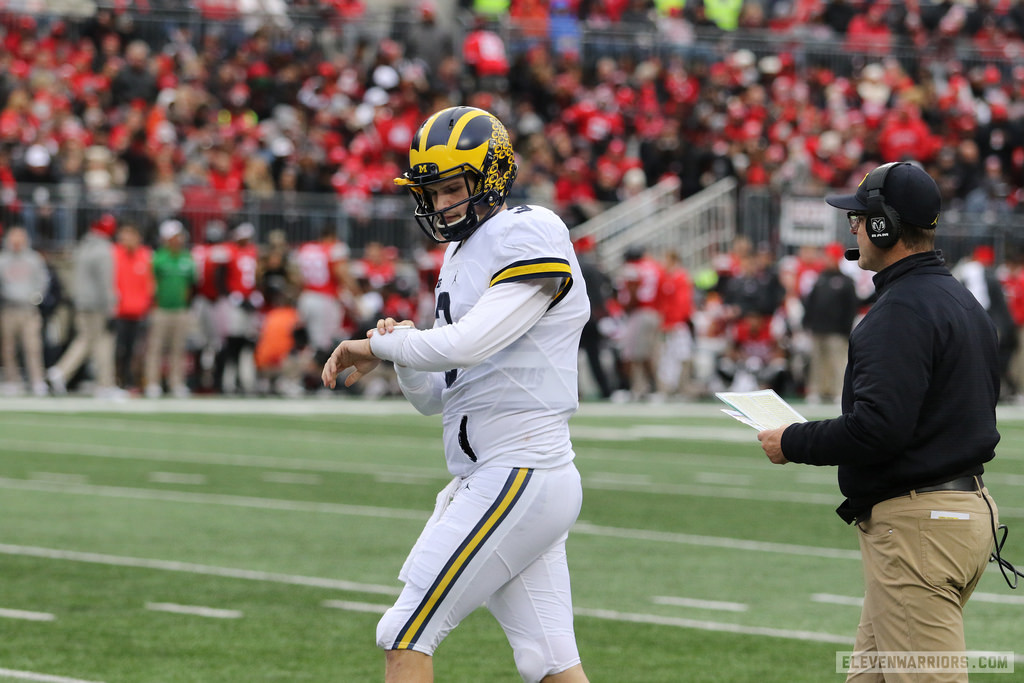 Wilton Speight was Michigan's starting quarterback for last year's game at Ohio State.