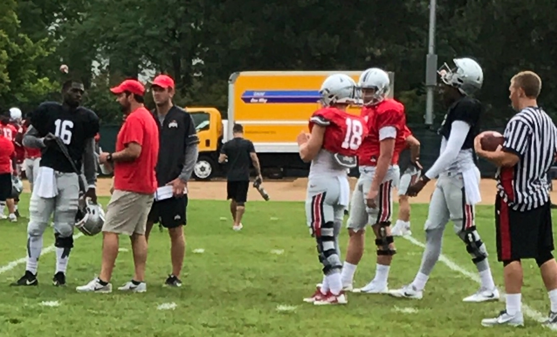 osu qbs at practice