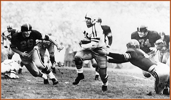 1955 Rose Bowl Action Shot