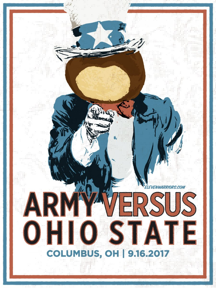 Brutus hits the recruiting trail in this week's game poster