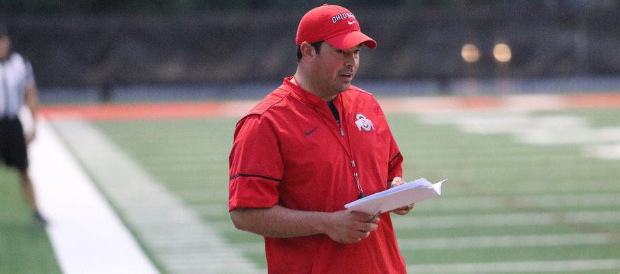 First-year co-offensive coordinator and quarterbacks coach Ryan Day is involved in Ohio State's offensive game planning.