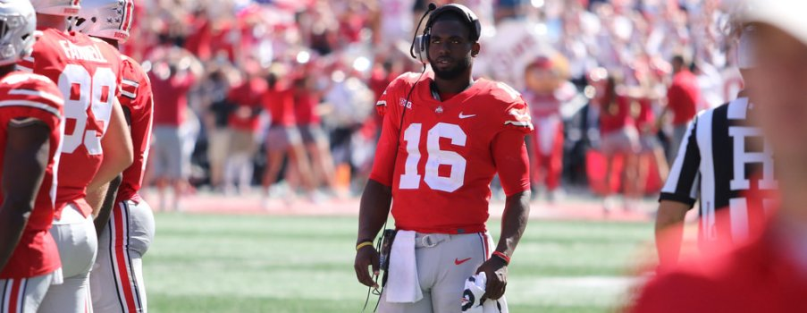 J.T. Barrett tossed five touchdowns on OSU's first six drives before taking the rest of the afternoon off.