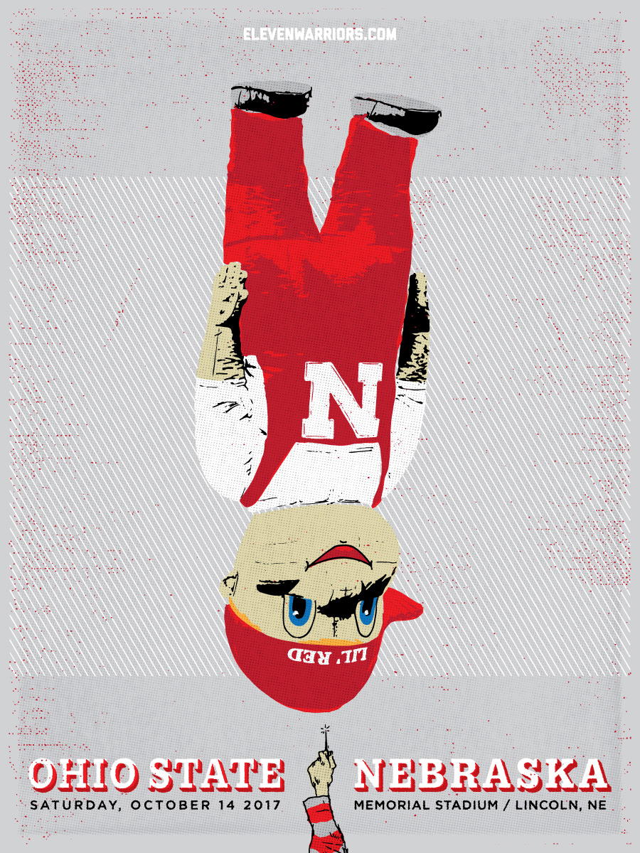 Brutus bursts the Huskers' bubble in this week's game poster.