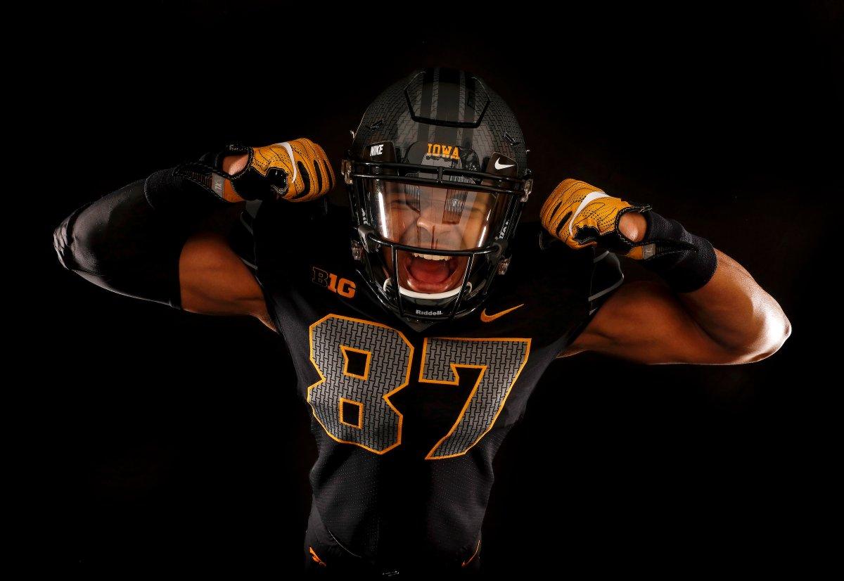 to Iowa All-Black Alternate  Wear Against Ohio Jerseys