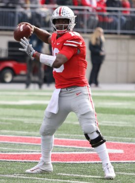 After just eight interceptions in the previous 21 games, J.T. Barrett's thrown six in the past two games.