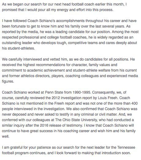 John Currie Statement