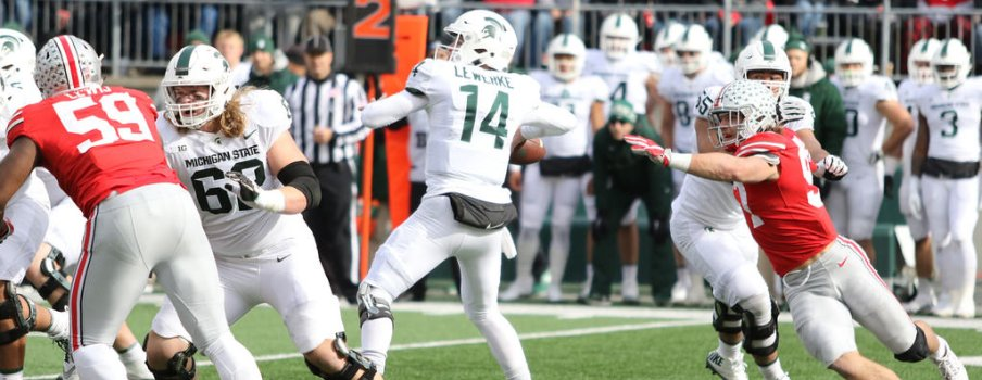 Brian Lewerke's time to throw was limited as the Rushmen regained their mojo.