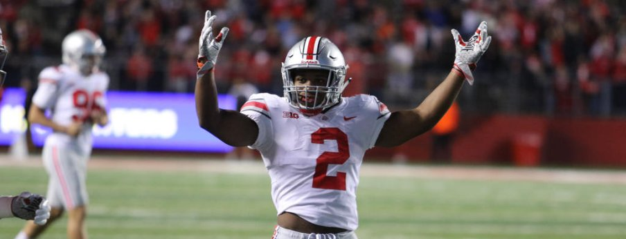 J.K. Dobbins is averaging 7.7 yards per carry on 13.2 carries per game.