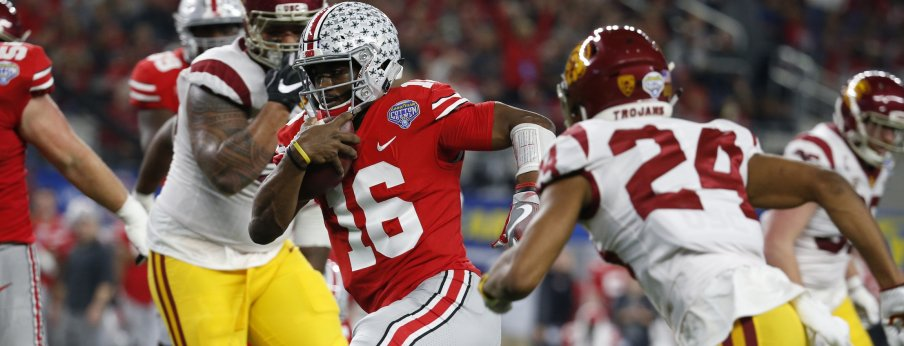 J.T. Barrett went for 180 total yards and a pair of rushing touchdowns against USC
