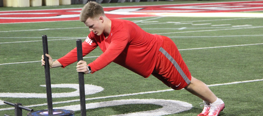 Nick Seme during a recent workout at Ohio State