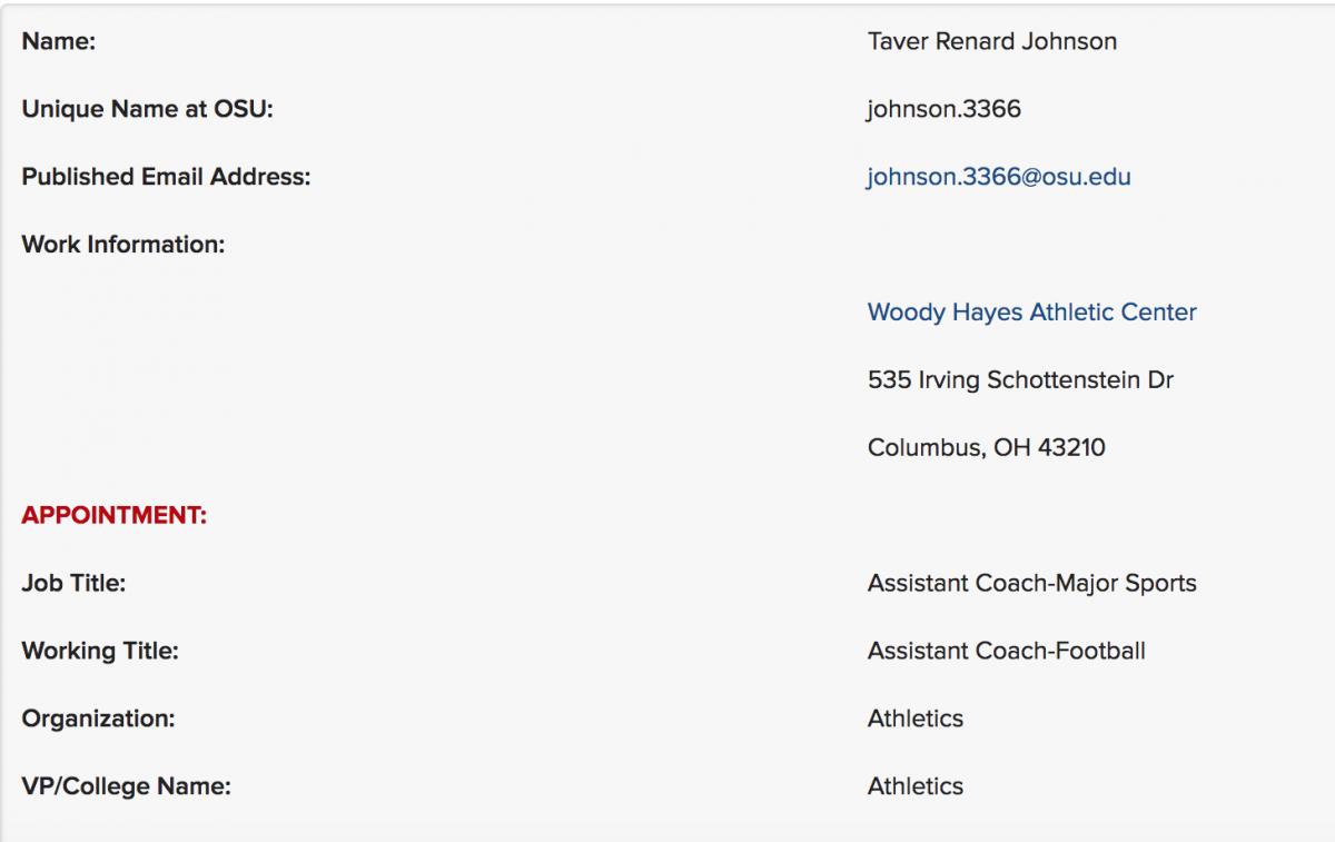 Taver Johnson profile