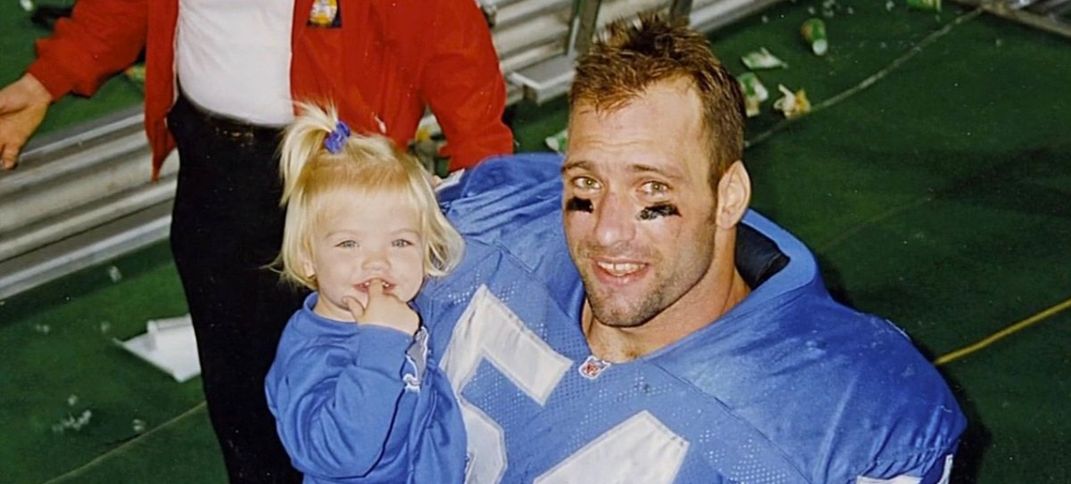 Spielman with his daughter