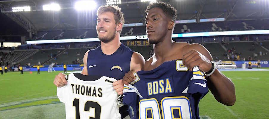 Joey Bosa and Michael Thomas
