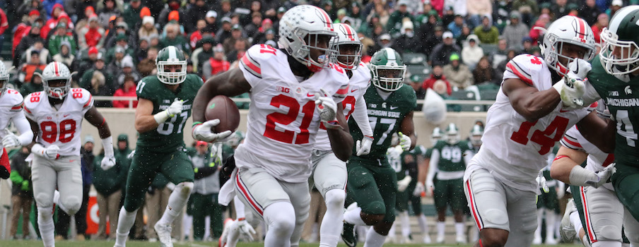 Parris Campbell vs. Michigan State at Spartan Stadium in 2016