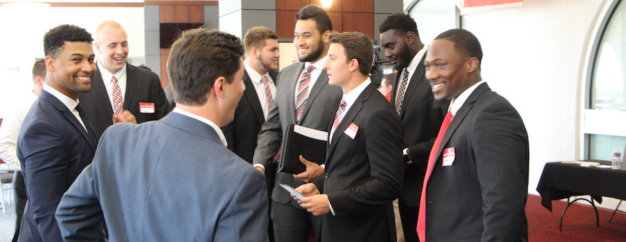 Patriots scouts talk to the Buckeyes