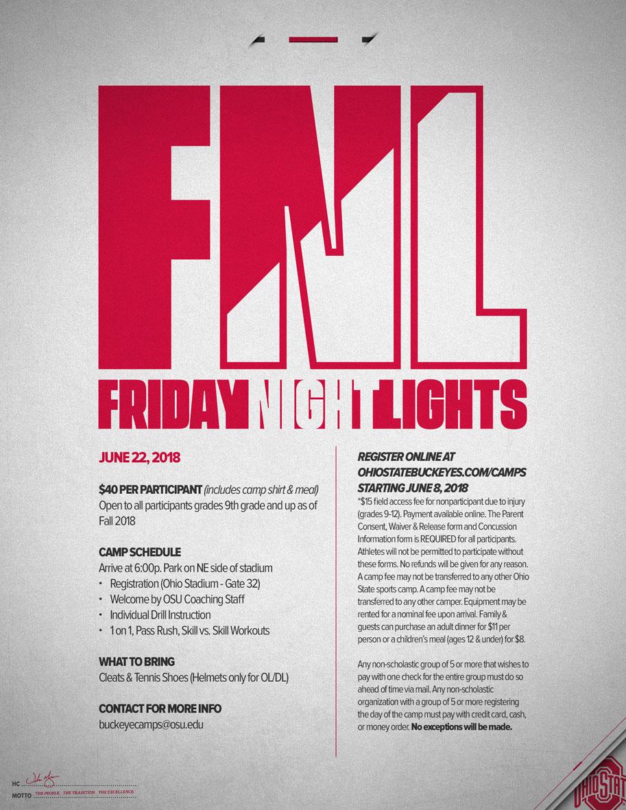 Friday Night Lights Flyer