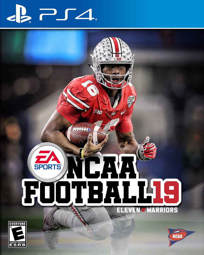 J.T. Barrett on the cover of NCAA Football 19 (PS4 Edition)