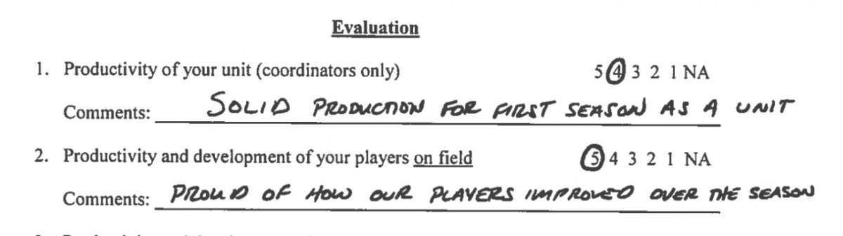 Ryan Day evaluation