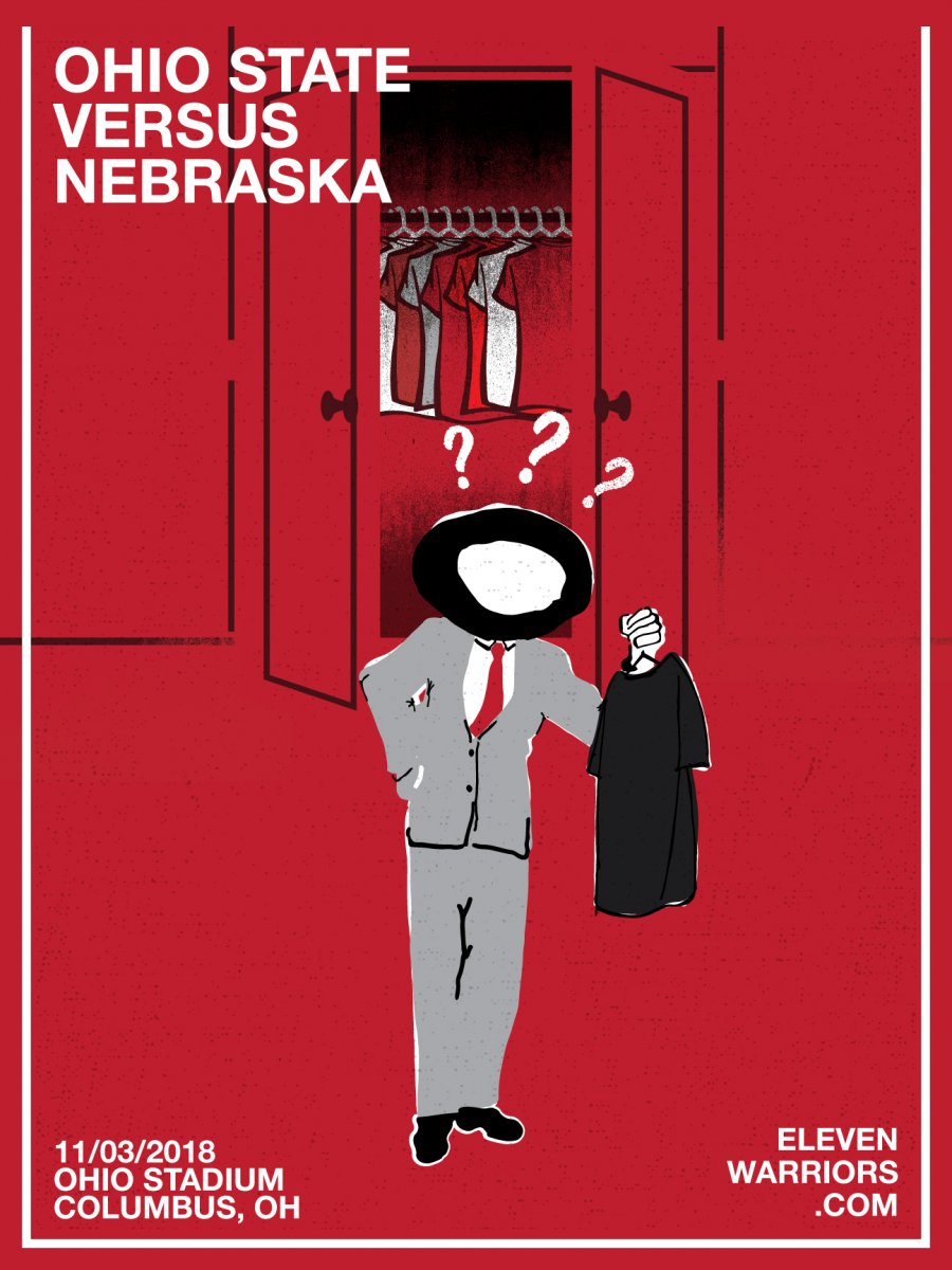 Brutus goes digging in his closet in this week's game poster.