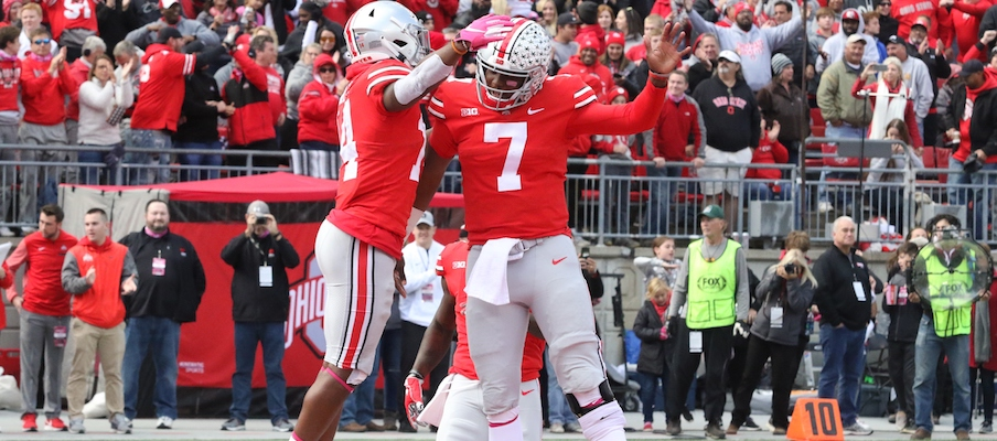 K.J. Hill and Dwayne Haskins