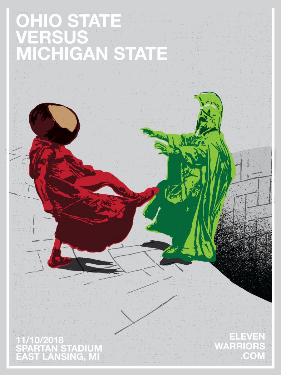 Brutus flips the script in this week's game poster.