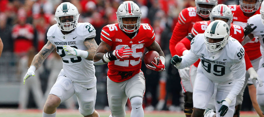 Mike Weber vs. Michigan State in 2017
