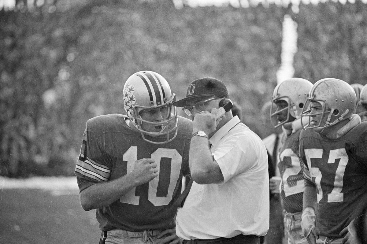 Woody Hayes and Rex Kern