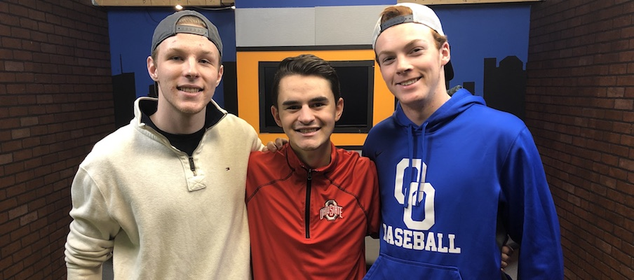 Jacob Lipperman, Max Brunke and Tyler Davis
