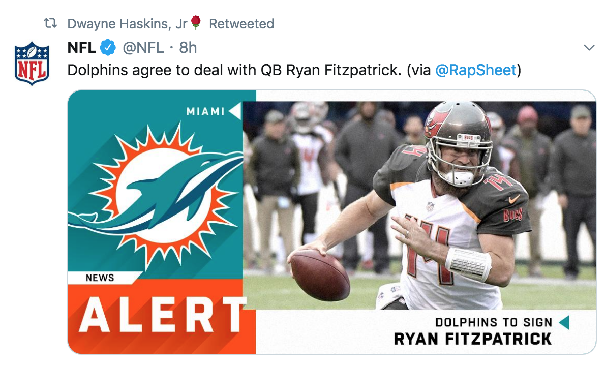 Haskins to the Dolphins?