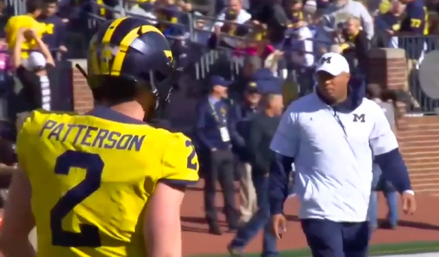 Gattis and Patterson at the 2019 Michigan Spring Game