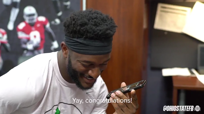 Watch Ohio State's 2019 Football Captains Call Their Families to Share the News