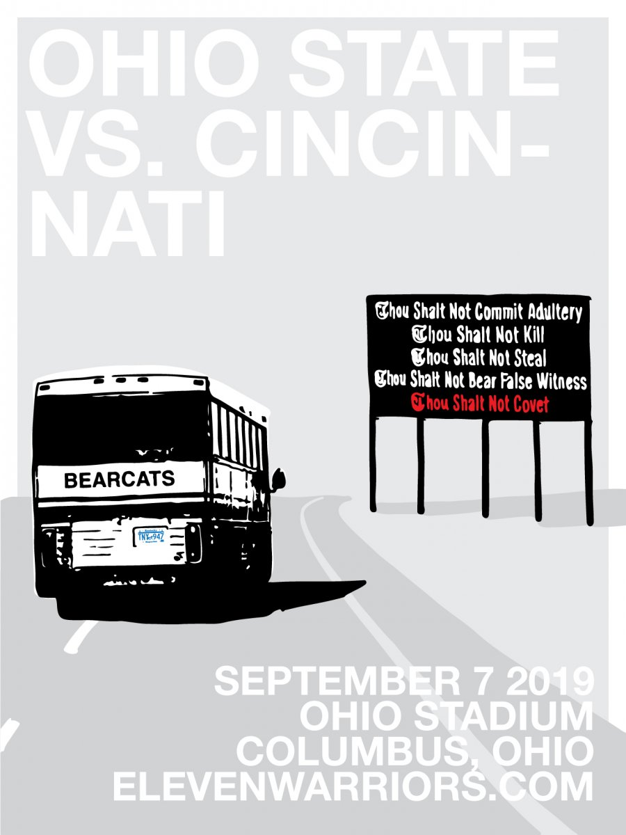 The Bearcats receive a familiar warning on their way to Columbus in this week's Game Poster.