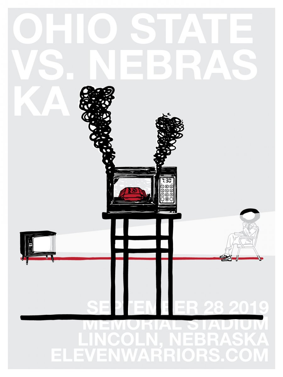 Brutus burns the corn in this week's game poster.