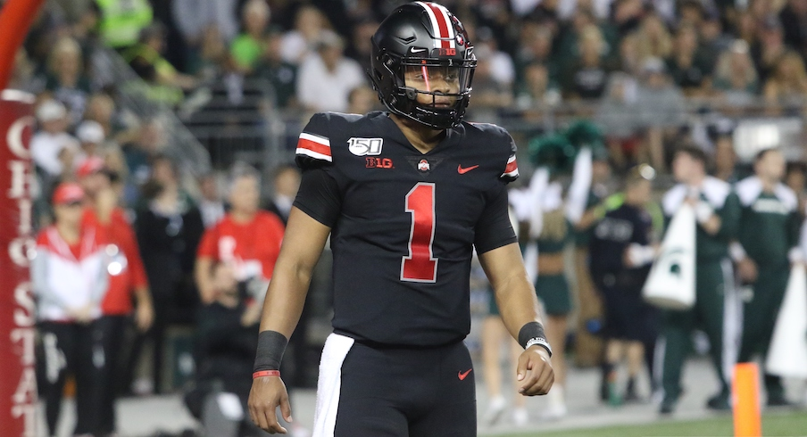 Michigan State Notebook: Justin Fields Finally Throws An Interception, Mickey Marotti Gets The Game Ball and Branden Bowen Returns to Ohio State's Offensive Line
