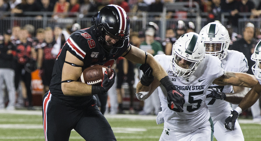 """Michigan State Quotebook: Luke Farrell """"Almost Cried"""" When He Scored, Ohio State's """"Electric"""" Blackout Atmosphere, New Turnover Prop"""