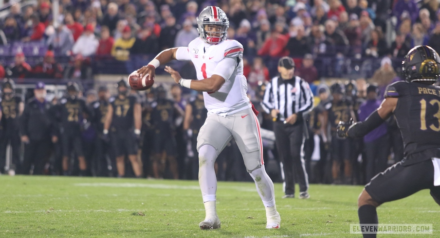 "Northwestern Quotebook: Justin Fields' ""God-given"" Scrambling, J.K. Dobbins Still Not Satisfied, Ohio State Turns Focus To Wisconsin"