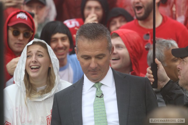 urban meyer at the Ohio State-Wisconsin game, Oct 2019
