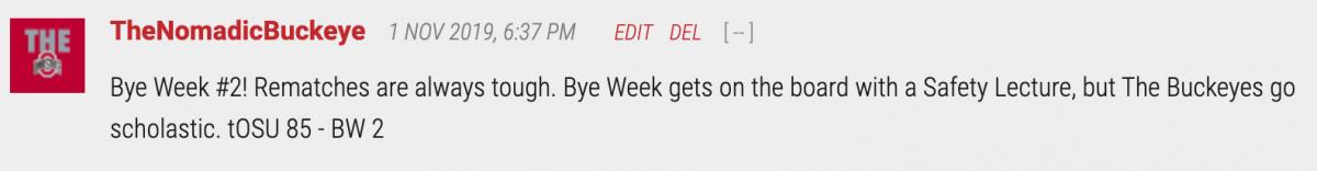 bye week got owned